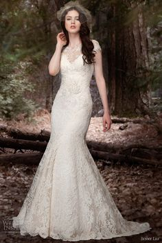 jenny lee bridal spring 2013 cap sleeve mermaid gown 1309