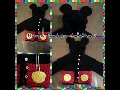 Tutorial How to Crochet a Mickey Mouse Baby Sweater Hoodie (Part 2) By Sabrina Sun - YouTube