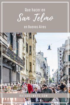Descubre qué ver y qué hacer en San Telmo, #BuenosAires, un barrio bohemio que mantiene sus costumbres con el tango y los mercadillos #Argentina #viajar #turismo #caba Tango, Street View, World, Youtube, Flea Markets, Bohemian, Paths, Destinations, Peace