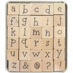 the Paper Studio Lower Case Kids Play Alphabet Rubber Stamp Set | Shop Hobby Lobby