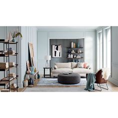 Vaughn Modern Grey Rug 8'x10' + Reviews   Crate and Barrel Pink Blanket, Grey Wash, Blue Abstract, Wood Shelves, Upholstered Chairs, Soft Colors, Custom Furniture, Crate And Barrel, Crates