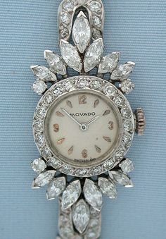 Vintage Diamond and Platinum Movado timepiece.
