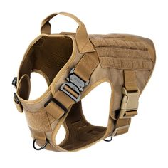 Tactical Dog Harness, Working Dog Vest,No Pulling Front Clip Leash Attachment Tactical Dog Harness, Tactical Dog Gear, Molle Vest, Dog Leg, Dog Muzzle, Service Dogs, Working Dogs, Metal Buckles, Dog Supplies