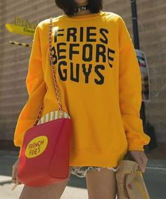 Burger And Friends - Fries Before Guys Sweatshirt