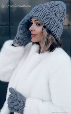 Knitted Headband, Knitted Hats, Head Wraps For Women, Winter Hats For Women, Women Hats, Girls Dp Stylish, Hat And Scarf Sets, Fur Clothing, Knit Fashion