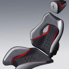 Pininfarina Sergio Concept - Seat Design Sketch