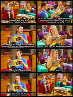 Haha Big Bang Theory--they are like a married couple as well as one of the best friendships on the show :D Best Tv Shows, Favorite Tv Shows, The Big Bang Therory, Tbbt, Big Bang Theory Funny, Old Married Couple, Married Couples, Lol, Tv Quotes