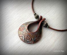 https://flic.kr/p/oepNDv | Кулон из полимерной глины. Вдохновение от Helen Breil