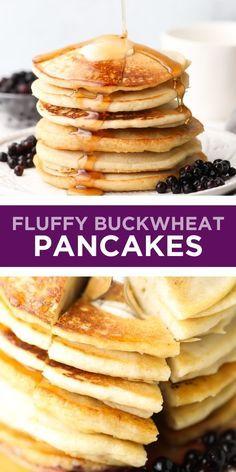 Vegan Buckwheat Pancakes, Buckwheat Gluten Free, Buckwheat Recipes, Vegan Breakfast Recipes, Vegan Recipes, Breakfast Ideas, Flour Recipes, Breakfast Dessert, Free Breakfast
