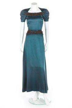 Elsa Schiaparelli dress, 1946, Kerry Taylor Auctions