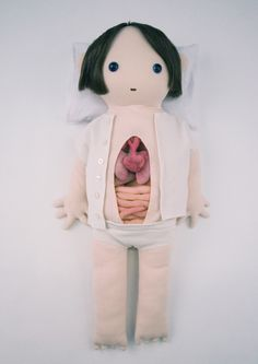 Doll with intestines to take out and play with  - Joséphine Vejrich