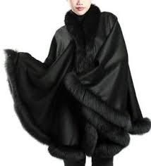 black cape with fur - Google Search