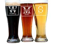 Groomsmen Gift 6 Personalized Beer Glasses by UrbanFarmhouseTampa
