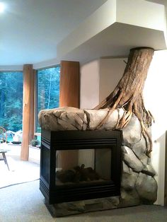 Stonetree Studios - Sculpted Fireplace