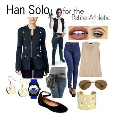 Han Solo for the Athletic Petite by custom-chaos on Polyvore featuring Dorothy Perkins, INC International Concepts, Steve Madden, Ray-Ban, NYX, women's clothing, women's fashion, women, female and woman