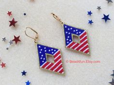 Brick Stitch Earrings, Seed Bead Earrings, Seed Beads, Etsy Earrings, Hoop Earrings, Fringe Earrings, Bead Embroidery Patterns, Beaded Embroidery, Beading Patterns