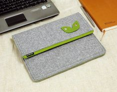 Felt iPad 1 2 3 4 Case, New iPad Sleeve iPad Bag with Earphone Organizer Holder Custom Made Bag for