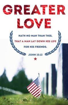 Memorial Day (John 15:13, KJV) Bulletins, 100