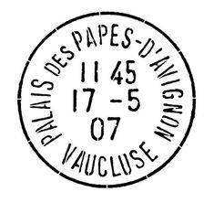 Etiqueta sello frances blanco y negro.