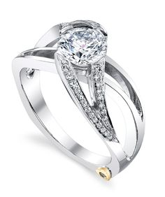Engagement Ring of the Week: Rejoice - She will definitely rejoice when you propose with this contemporary Mark Schneider diamond engagement ring.    http://markschneiderdesign.com/engagement-rings/contemporary-engagement-rings/rejoice-engagement-ring