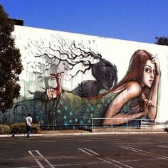 Wall mural by German duo Herakut in the USA #herakut #streetart #art