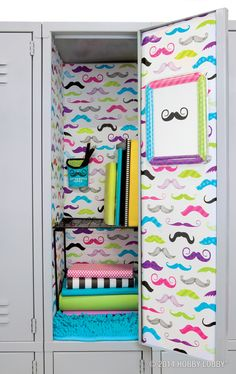 We mustache you...are you ready to jazz up your locker and have a great school year? So are we!