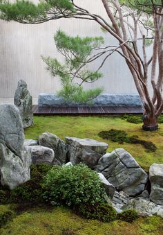 A River of Stone at Tiger Glen Garden. Stone, hardscaping, Japanese inspired landscape