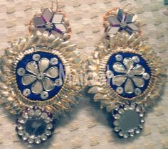 Our latest collection of handcrafted gota earrings Can be customized in any color For further details contact on 8826217666 Diy Jewellery, Bridal Jewelry, Jewelry Design, Dorset Buttons, Weeding, Mornings, Lehenga, Party Favors, Designers