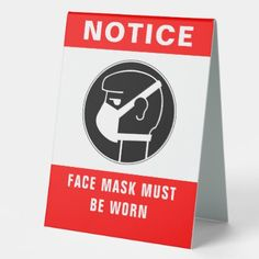 Shop Face Mask Safety Table Tent Sign created by ShabzDesigns. Office Safety, Workplace Safety, Safety Moment Ideas, Safety Slogans, Construction Safety, Industrial Safety, Table Tents, Safety Tips, Health And Safety