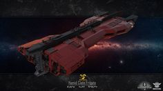 Hamid by Thaiauxn on DeviantArt Concept Ships, Concept Art, Halo Ships, Gun Turret, Sci Fi Ships, Spaceship Design, Science Fiction Art, Space Crafts, Sci Fi Fantasy