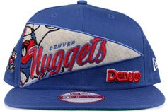 NEW ERA OL Pennant NBA Denver Nuggets Unisex Royal Blue 100% Cotton 9FIFTY  snapback hat 11045e86e710