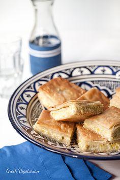 Greek Vegetarian: Prasopita (Leek Pie with Feta) and Vegan Spanakopi...