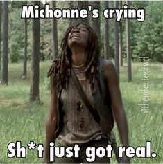 Michonne's crying  - Shit Just Got Real - The Walking Dead