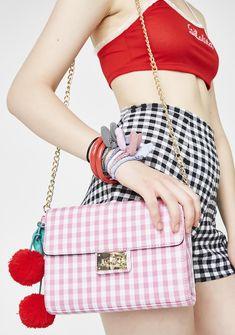 8d02bb9aa30 Skinnydip Cherry Picnic Crossbody Bag   Dolls Kill  dollskill  sugarthrillz   cherries  strawberries  plaid  red  pink  newarrivals  lolita