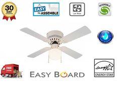 Reversible Eco Cooler 4 Blades Ceiling Fan Lighting 42 Living Room 3 Speeds Home #ReversibleEcoCooler #Modern