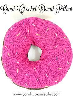 Giant Donut Pillow with FREE Pattern! – Yarn Hook Needles   Yarn Hook Needles