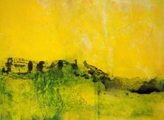 Abstract Acrylic Painting HEDGEROWS affordable by BreadandCircuses, £55.00