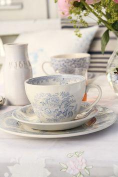 Burleigh Pottery   Blue Asiatic Pheasant Frukostkopp   Matilde & Co   Handla online