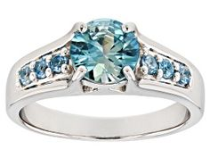 Have you seen the latest at JTV? Discover this gorgeous Blue Zircon Rhodium Over Silver Ring Shop today to get a great deal! Blue Topaz Ring, Blue Zircon, Topaz Gemstone, Gemstone Colors, Blue Gemstones, Broken Chain, Rings Cool, Types Of Rings, Necklace Types