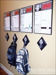 Children's message board center. #homeorganization