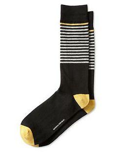Placed Stripe Sock