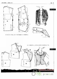 Necklines XIII (http:nelyager. T Shirt Sewing Pattern, Collar Pattern, Pattern Drafting, Jacket Pattern, Top Pattern, Diy Barbie Clothes, Sewing Clothes, Diy Clothes, Pattern Cutting