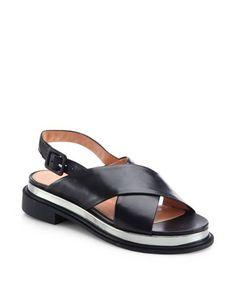 Robert Clergerie | Black Caliba Crisscross Leather Sandals | Lyst