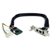 Selected 3-Port Mini PCI Express Card By Startech.com by StarTech. $91.35. At Startech.com they are committed to provide the consumer with the highest and best quality when it comes to products like this Exclusive 3-Port Mini PCI Express Card3 Port 2b 1a 1394 Mini PCI Express FireWire Card AdapterBy selecting Selected 3-Port Mini PCI Express Card By Startech.com we know you chose right, because at Startech.com they are dedicated to meet consumers' satisfaction.