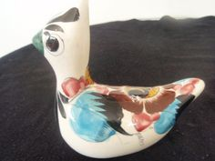 Mexican Pottery Bird  Hand painted by SocialmarysTreasures on Etsy, $8.00