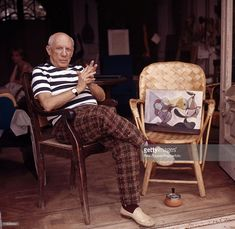 Spanish artist Pablo Picasso at his home in Cannes, circa 1960.