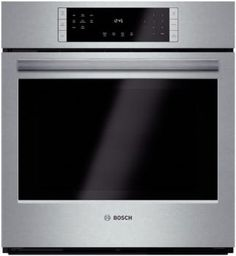 Bosch HBN8451UC 27 Inch Single Electric Wall Oven with European Convection, Fast Preheat, EcoClean, Self-Clean, 4.1 cu. ft. Oven, 12 Cooking Modes, Meat Probe, Telescopic Rack, Star-K Certified and ADA Compliant