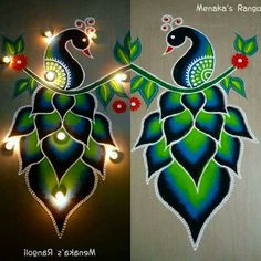 Easy Rangoli Designs Videos, Easy Rangoli Designs Diwali, Simple Rangoli Designs Images, Rangoli Designs Latest, Rangoli Designs Flower, Rangoli Border Designs, Small Rangoli Design, Rangoli Patterns, Colorful Rangoli Designs