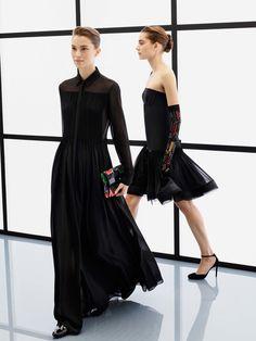 Model Eliza Hartmann For Giorgio Armani Prefall 2017