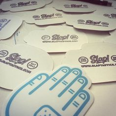 Boom! We got our new Slap! Stamp in and are stamping the backs of our #stickers! Stay tuned for more to come as we hear up for our #kickstarter next month! #design #designer #art #artist #illustration #illustrator #awesome #fun #talent #work #hand #sandiego #slaptastick #california #socal #westcoast #thursday #weekday #slap by slaptastick